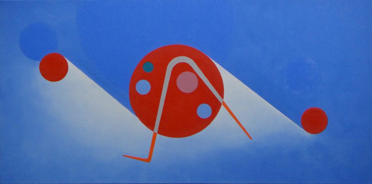 Improvisation b-12x24, oil on canvas