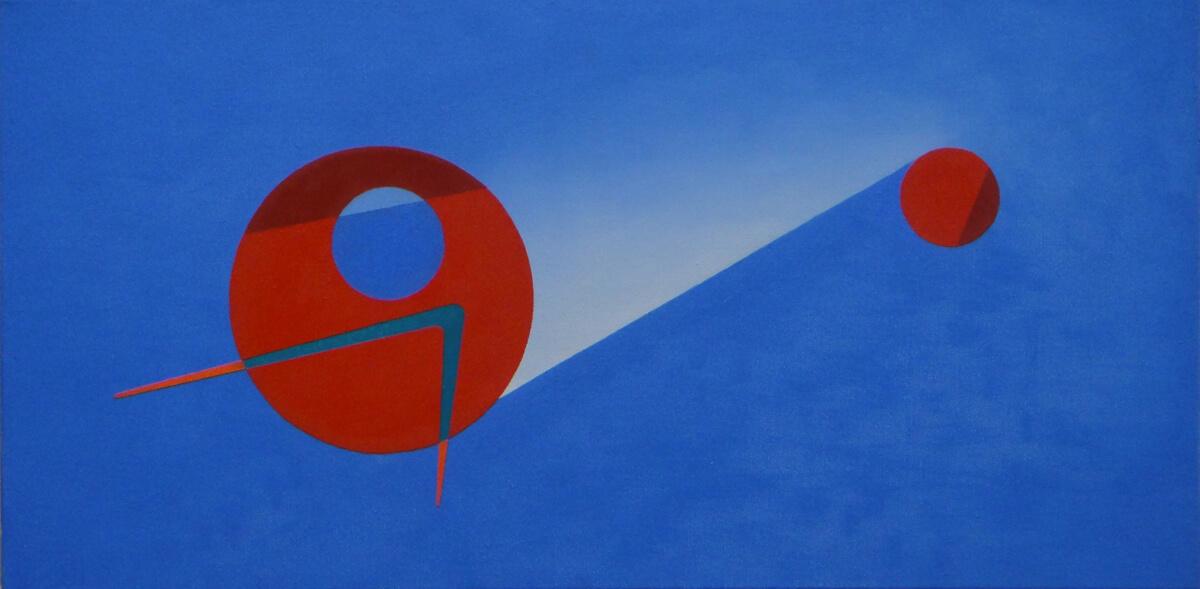 Improvisation a - 12x24, oil on canvas
