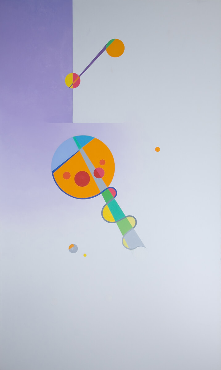 Radiant Violet - 60x36, oil on canvas
