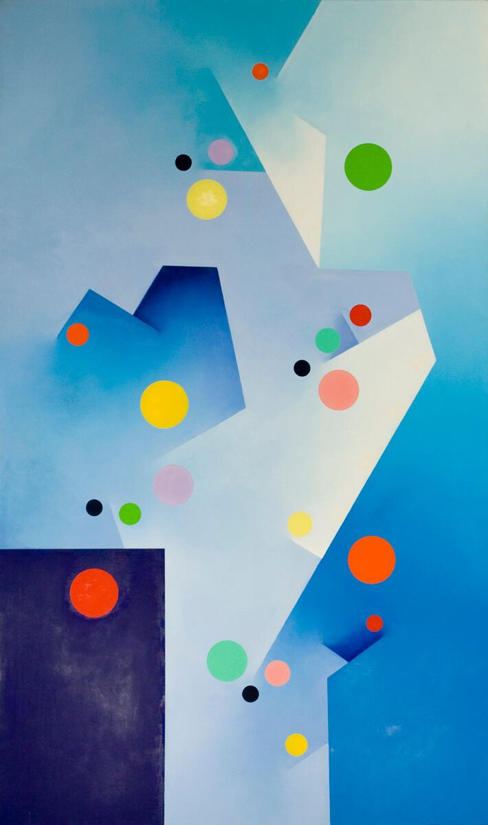 Cobalt Blue Deep - 60x36, oil on canvas