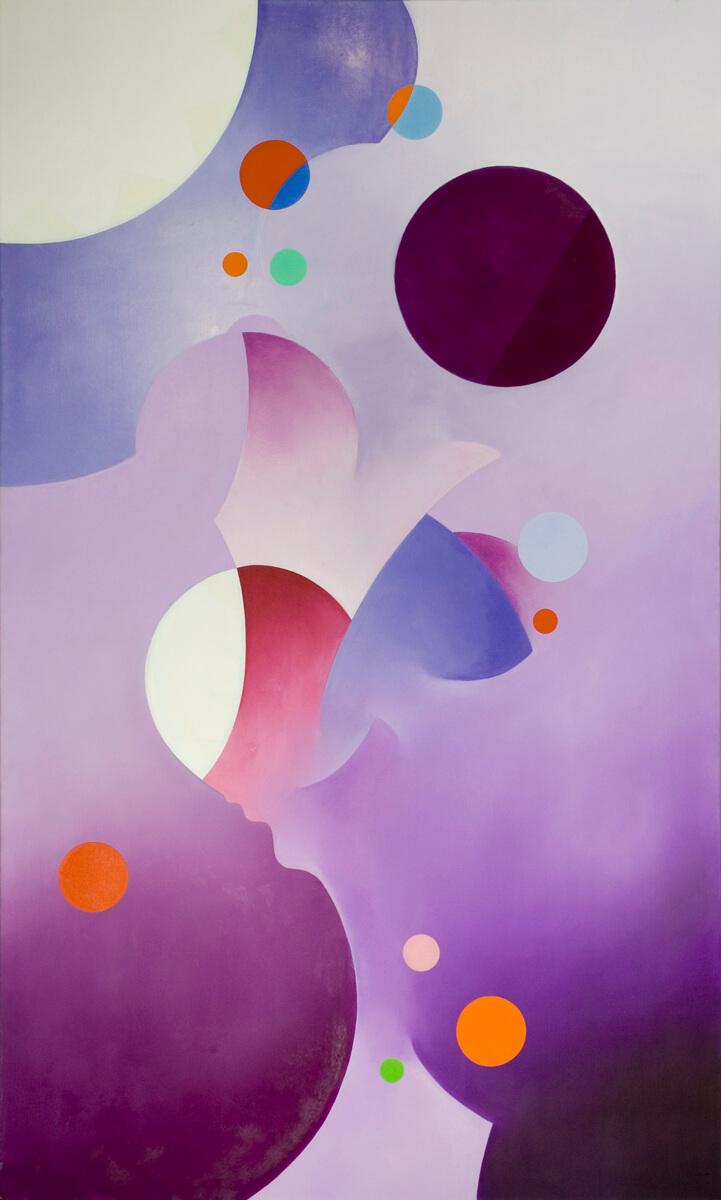 Cobalt Violet - 60x36, oil on canvas