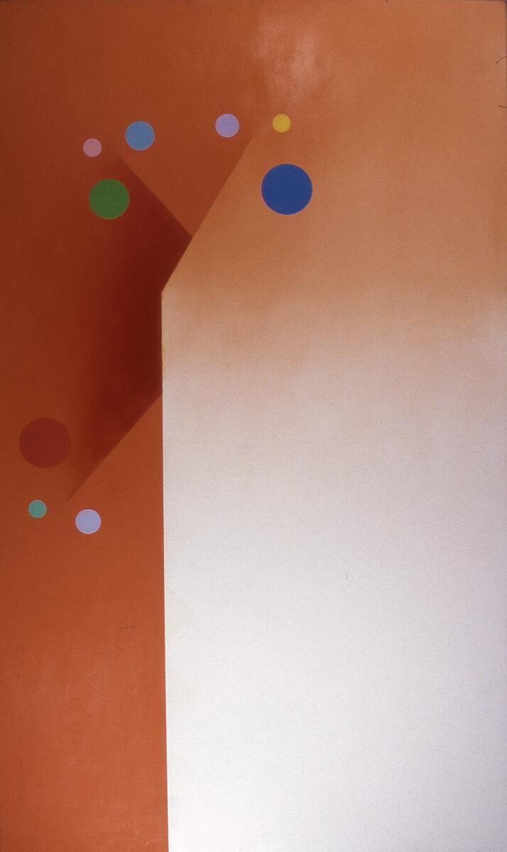 Cadmium Orange - 60x36, oil on canvas