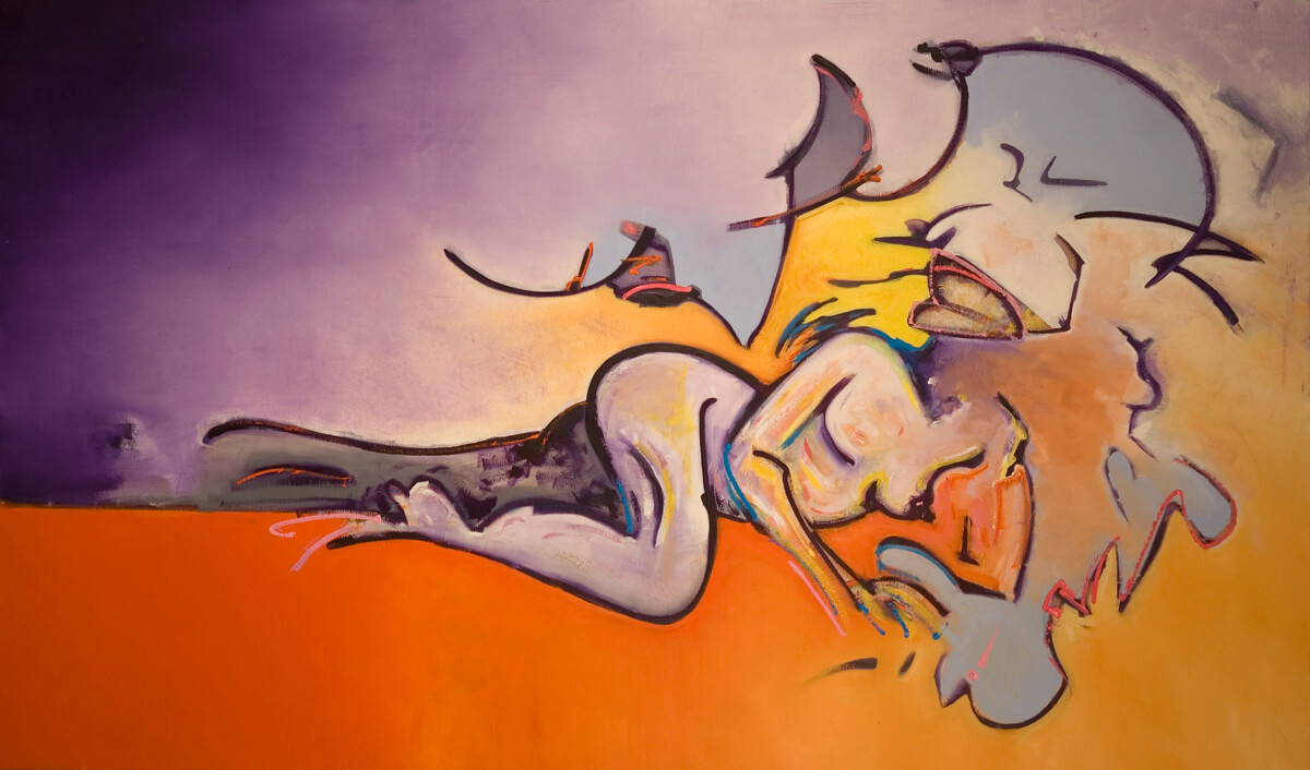 Europa and the Bull d - 36x60, oil on canvas