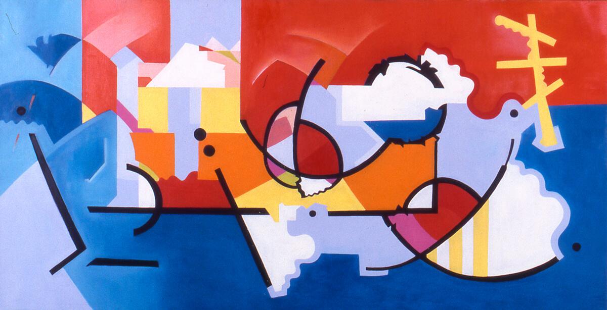 Mexico c - 24x 48, oil on canvas